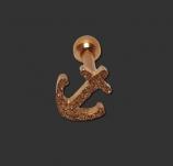 Tragus / Helix Piercing Sandgestrahlt Rose Gold Anker