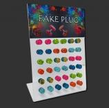 Splatter Color Fake Plug Display