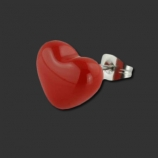SUPERNOVA CONCEPT Fire Red Heart Earstud