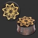 Tamarind Wood Plug Lotus